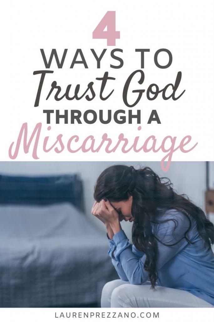 trusting God through miscarriage