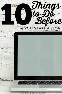 10 Things to do before you