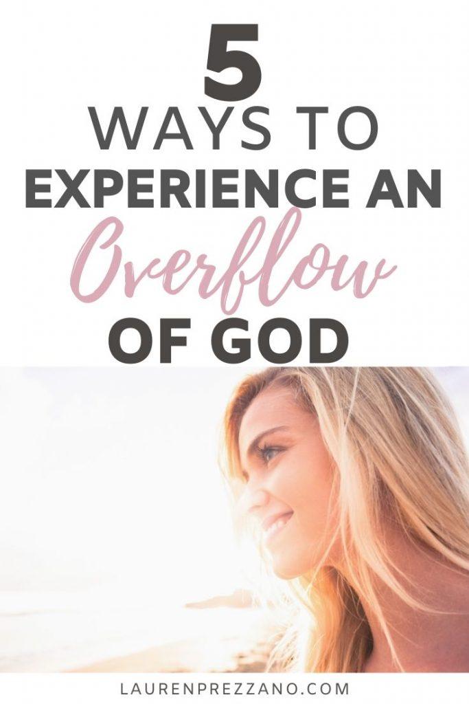 OVERFLOW OF GOD